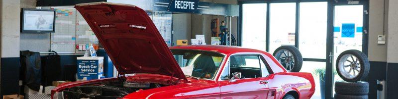 Ford Mustang bij Garage Goudswaard in 's Heerenberg